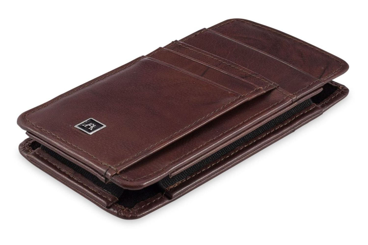Ash 2892op Premium full grain Distressed Oil Pull up leather money clip wallet